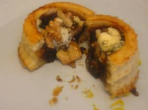 Filled with fig ginger jam, blue cheese and toasted walnuts