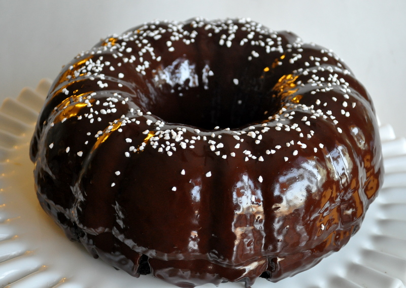Sour Cream Blood Orange Bundt Cake With Cocoa Filling ...